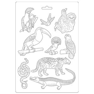 Molde flexible A4 Stampería Amazonia Animales