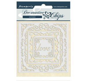 Stampería Decorative Chips Atelier des Arts Love Frames