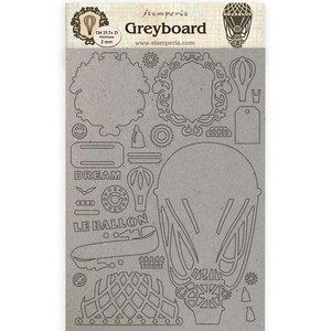 Hoja A4 de chipboard Stampería Voyages Fantastiques Globo