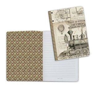 Cuaderno A5 Notebook Stampería Voyages Fantastiques Tren