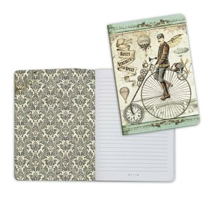Cuaderno A5 Notebook Stampería Voyages Fantastiques Biciclo