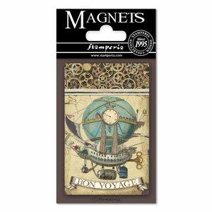 Imán Stampería Magnets Voyages Fantastiques Globo