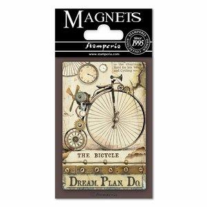 Imán Stampería Magnets Voyages Fantastiques Biciclo