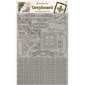 Hoja A4 de chipboard Stampería Sleeping Beauty Frames