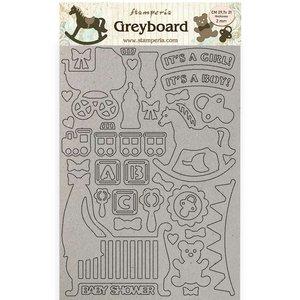 Hoja A4 de chipboard Stampería Sleeping Beauty Baby
