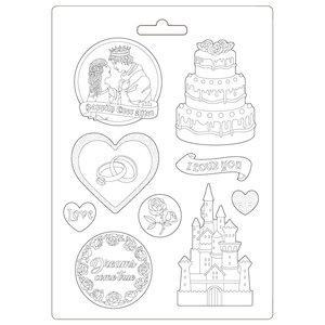 Molde flexible A4 Stampería Sleeping Beauty Castle & Cake