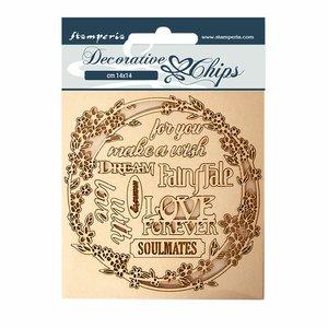 Stampería Decorative Chips Sleeping Beauty Garland Love