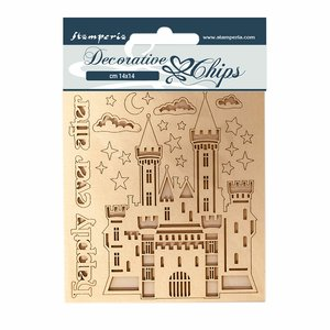 Stampería Decorative Chips Sleeping Beauty Castle
