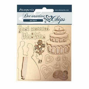 Stampería Decorative Chips Sleeping Beauty Just Married