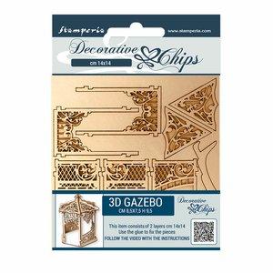 Stampería Decorative Chips Sleeping Beauty 3D Gazebo 2 pcs