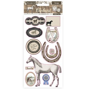 "Chipboard 6x12"" Stampería Romantic Horses"
