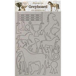 Hoja A4 de chipboard Stampería Romantic Horses Trophy