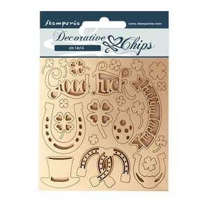 Stampería Decorative Chips Romantic Horses Good Luck