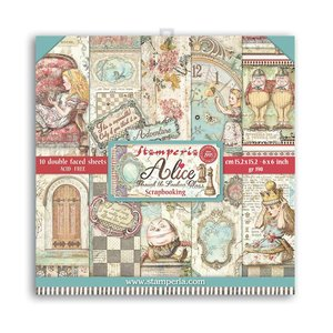 """Pad 6x6"""" Stampería Alice Through the Looking Glass"""