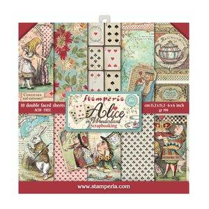 "Pad 6x6"" Stampería Alice Alice in Wonderland"