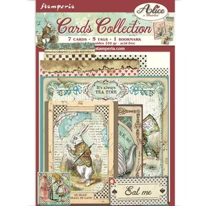 Cards Collection Stampería Alice in Wonderland
