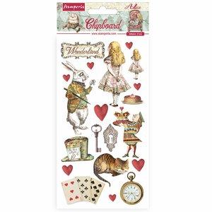 """Chipboard 6x12"""" Stampería Alice in Wonderland"""