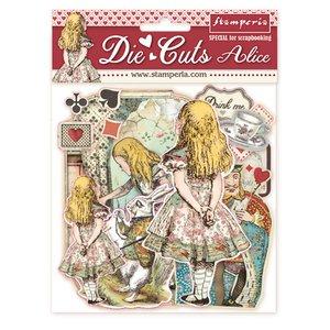 Die Cuts de chipboard Stampería Alice in Wonderland