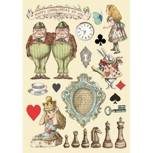Maderitas coloreadas Stampería Alice Chessboard