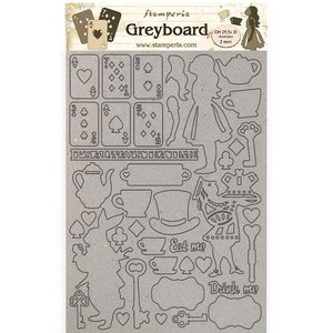 Hoja A4 de chipboard Stampería Alice Elements