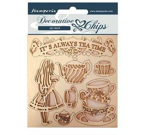 Stampería Decorative Chips Alice Tea Time