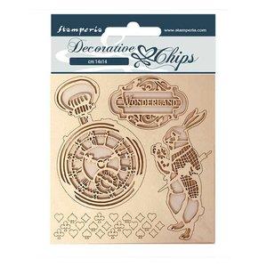 Stampería Decorative Chips Alice in Wonderland