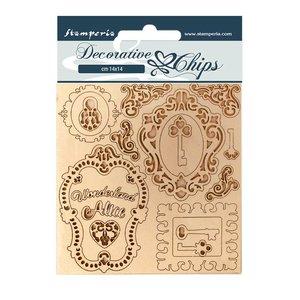 Stampería Decorative Chips Alice Keys and Frames