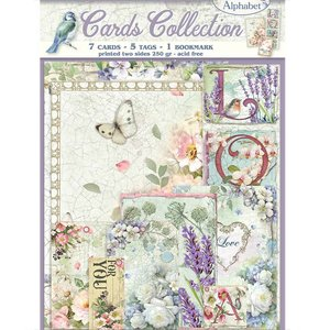 Cards Collection Stampería Flower Alphabet