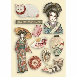 Maderitas coloreadas Stampería Sir Vagabond in Japan Lady