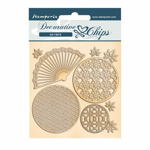 Stampería Decorative Chips Sir Vagabond in Japan Fan and Circles
