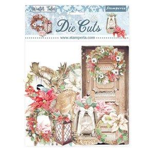 Die Cuts de chipboard Stampería Winter Tales Elements