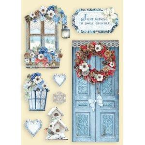 Maderitas coloreadas Stampería Winter Tales Door and Window