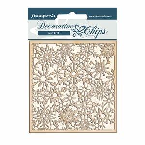 Stampería Decorative Chips Winter Tales Snowflakes