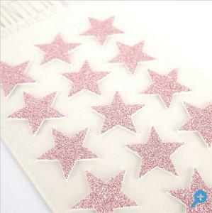 Pegatinas foam con glitter Stars Dovecraft Winter Sparkle