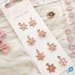 Charms de metal Snowflakes Dovecraft Winter Sparkle