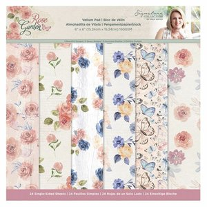 "Pad Vellums 6x6"" Sara Signature Col. Rose Garden 24 hojas"