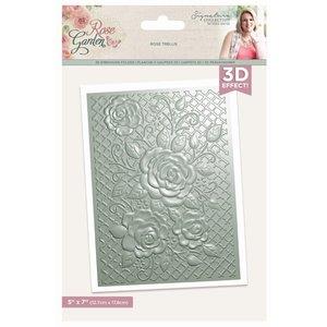 Carpeta embossing Sara Signature Col. Rose Garden 3D