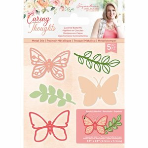 Troquel Sara Signature Col. Caring Thoughtd Butterfly 3D
