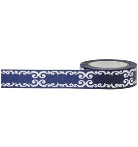 Blue Flourish Foil Tape