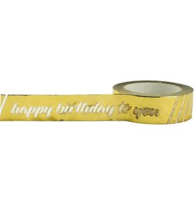 Happy Birthday Foil Tape