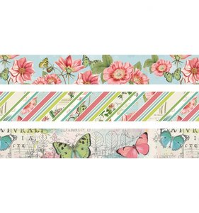 Set washi Tape Simple Vintage Botanicals