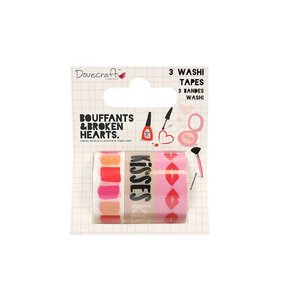 Set Washi Tape  Kiss & Makeup